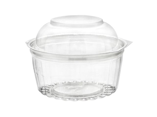 8 oz. Dome Clamshell Hinged Container